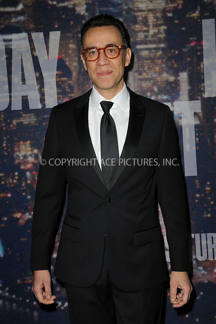 WWW.ACEPIXS.COM<br /> February 15, 2015 New York City<br /> <br /> Fred Armisen walking the red carpet at the SNL 40th Anniversary Special at 30 Rockefeller Plaza on February 15, 2015 in New York City.<br /> <br /> Please byline: Kristin Callahan/AcePictures<br /> <br /> ACEPIXS.COM<br /> <br /> Tel: (646) 769 0430<br /> e-mail: info@acepixs.com<br /> web: http://www.acepixs.com