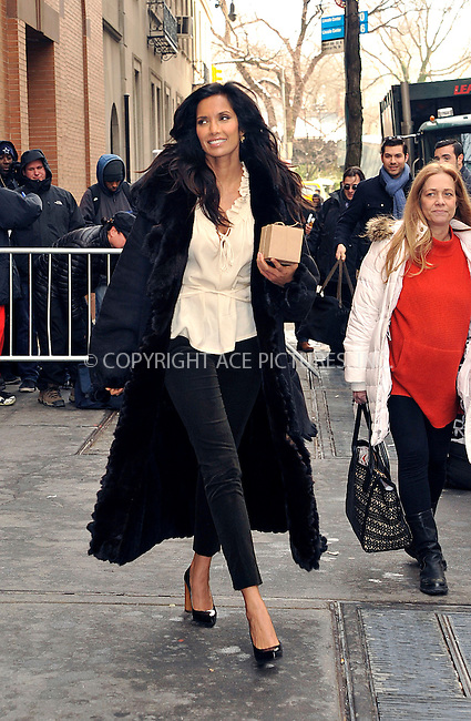 WWW.ACEPIXS.COM<br /> <br /> January 29 2015, New York City<br /> <br /> TV personality Padma Lakshmi made an appearance at 'The View' on January 29 2015 in New York City<br /> <br /> By Line: Curtis Means/ACE Pictures<br /> <br /> <br /> ACE Pictures, Inc.<br /> tel: 646 769 0430<br /> Email: info@acepixs.com<br /> www.acepixs.com