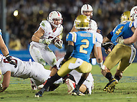 Stanford, Ca - September 24, 2016: The Stanford Cardinal vs the UCLA Bruins at the Rose Bowl. Final score Stanford 22, UCLA Bruins 13.