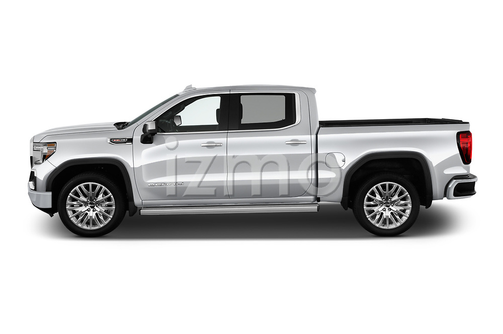Car driver side profile view of a 2019 GMC Sierra 1500 Denali Base 4 Door Pick Up