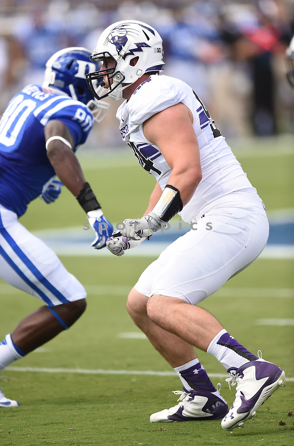 Northwestern Wildcats Dean Lowry (94) during a game against the Duke Blue Devils on September 19, 2015 at Wallace Stadium in Durham, NC. Northwestern beat Duke 19-10.