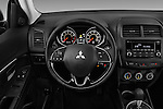 Car pictures of steering wheel view of a 2017 Mitsubishi Outlander-Sport ES-AWC 5 Door SUV Steering Wheel