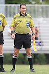 30 August 2015: Assistant Referee Dustin Thorne. The Duke University Blue Devils hosted the DePaul University Blue Demons at Koskinen Stadium in Durham, NC in a 2015 NCAA Division I Men's Soccer match.