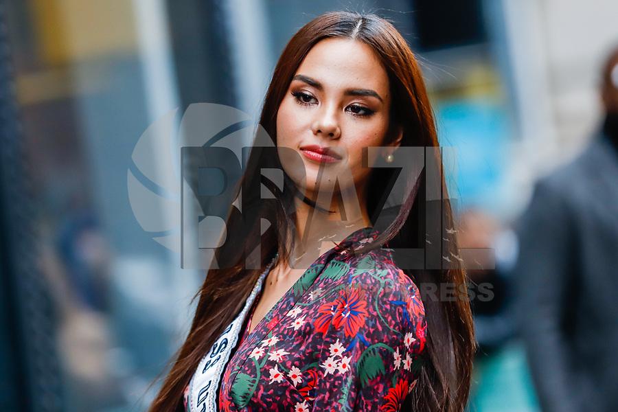 NOVA YORK,USA, 08.01.2019 - CELEBRIDADE-USA - Catriona Gray Miss Universo da Filipinas é vista no bairro do Soho em Manhattan, New York nesta terça-feira, 08. (Foto: William Volcov/Brazil Photo Press)