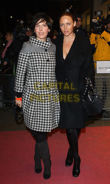 "SHARLEEN SPITERI & STELLA McCARTNEY.""I'm Going To Tell You A Secret"" Premiere, UK TV Documentary Premiere at Chelsea Cinema, London, UK..November 29th, 2005.Ref: BEL.full length black white coat plunging neckline black boots.www.capitalpictures.com.sales@capitalpictures.com.© Capital Pictures."