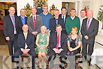 Superintendent Michael O'Donovan, Killarney, pictured with his wife Mairead, Chief Superintendent Pat O'Sullivan, Grace O'Connell, Tom Myers,John Heaslip, Dermot O'Connell, Jim O'Connor, Michael O'Donnell, Ferghal Patwell, Conor Maher, Adrian Brennan and Tom Tobin.......................