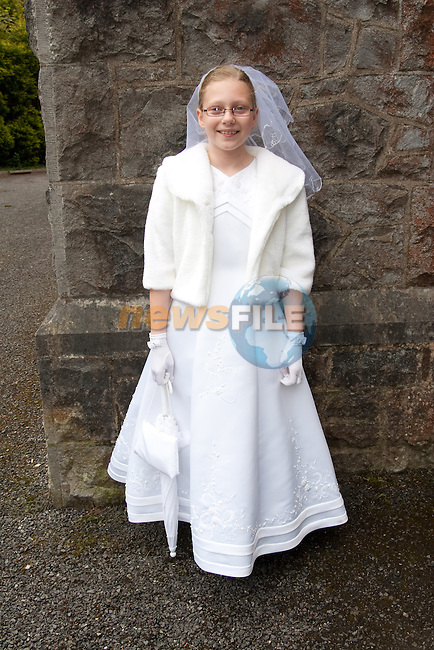 Maja Woroniecka who made her First Communion Saturday in Termonfeckin Church. Picture: Newsfile/Mark Carroll.