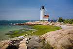 Annisquam Harbor Light in Annisquam village, Gloucester, North Shore, MA, USA