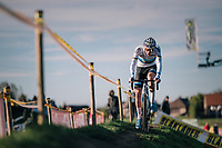 European Champion Mathieu van der Poel (NED/Corendon-Circus) leading the race from start to finish<br /> <br /> Superprestige Ruddervoorde 2018 (BEL)
