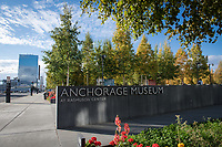 Outside Anchorage Museum prior to UAA Chancellor Cathy Sandeen and Museum of Anchorage Executive Director Julie Decker signing a Memorandum of Understanding recognizing the mutual benefits to be gained through collaboration between UAA and the Anchorage Museum.