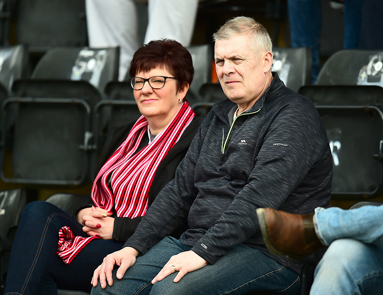 Lincoln City fans enjoy the pre-match atmosphere<br /> <br /> Photographer Andrew Vaughan/CameraSport<br /> <br /> The EFL Sky Bet League Two - Lincoln City v Macclesfield Town - Saturday 30th March 2019 - Sincil Bank - Lincoln<br /> <br /> World Copyright © 2019 CameraSport. All rights reserved. 43 Linden Ave. Countesthorpe. Leicester. England. LE8 5PG - Tel: +44 (0) 116 277 4147 - admin@camerasport.com - www.camerasport.com