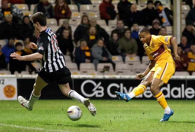 Chris Humphrey scores goal no 3 for Motherwell
