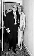 02 Mar 1970, Manhattan, New York City, New York State, USA --- French President Georges Pompidou and his wife Claude head toward the ball room of the Waldorf-Astoria Hotel during their visit in New York City. --- Image by © JP Laffont