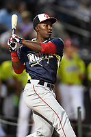 Daniel Johnson of the Hagerstown Suns participates in the Home Run Derby as part of of the South Atlantic League All-Star Game festivities on Monday, June 19, 2017, at Spirit Communications Park in Columbia, South Carolina. (Tom Priddy/Four Seam Images)