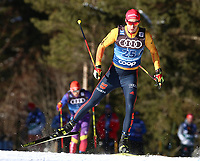 31st December 2019; Dobbiaco, Toblach, South Tyrol, Italy;  FIS Tour de Ski - Cross Country Ski World Cup 2019  in Dobbiaco, Toblach, on December 31, 2019; Florian Notz of Germany in the Mens individual 15km