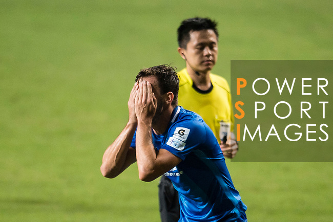 SC Kitchee Defender Helio de Souza reacts during the week three Premier League match between Hong Kong Pegasus and Kitchee at Hong Kong Stadium on September 17, 2017 in Hong Kong, China. Photo by Marcio Rodrigo Machado / Power Sport Images