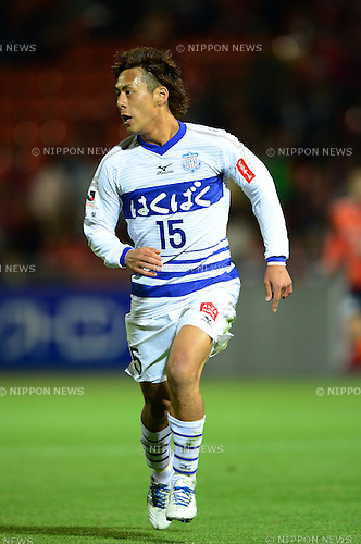 Akito Kawamoto (Ventforet),.APRIL 10, 2013 - Football / Soccer :.2013 J.League Yamazaki Nabisco Cup Group A match between Omiya Ardija 1-3 Ventforet Kofu at NACK5 Stadium Omiya in Saitama, Japan. (Photo by AFLO)