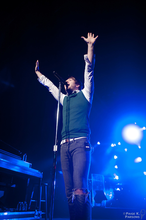 Owl City performs at the Warfield Theater in San Francisco, July 19, 2011. Copyright Paige K. Parsons