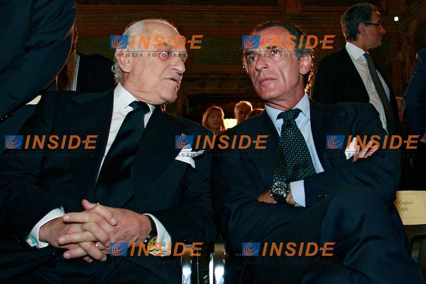 Aldo Maria e Ferdinando Brachetti Peretti.Roma 18/06/2012 Assemblea dell'Unione Petrolifera 2012.Photo Samantha Zucchi Insidefoto