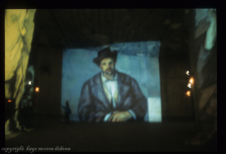 Paul Cezanne images at the Cathedrale D'Images in Provence, France