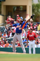 New York Mets infielder Brandon Allen (30) during a Spring Training game against the St. Louis Cardinals on April 2, 2015 at Roger Dean Stadium in Jupiter, Florida.  The game ended in a 0-0 tie.  (Mike Janes/Four Seam Images)