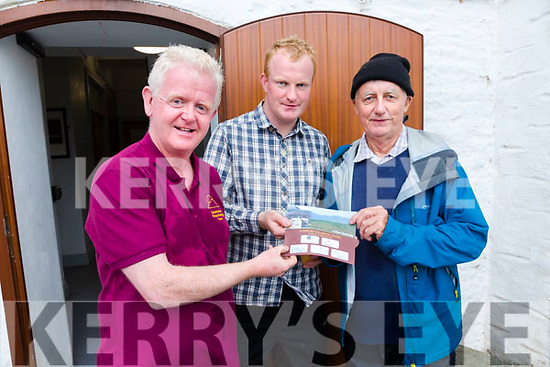 Passport stamped for the Cnoc na dTobar Pilgrim Path Walk in Cahersiveen on Monday, part of the Heritage week and the Irish Pilgrim Journey, pictured here l-r; Gerry Enright, Cormac Dineen & Johnny Keating.