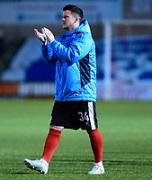 Lincoln City's Billy Knott applauds the fans at the end of the game<br /> <br /> Photographer Andrew Vaughan/CameraSport<br /> <br /> Vanarama National League - Lincoln City v Chester - Tuesday 11th April 2017 - Sincil Bank - Lincoln<br /> <br /> World Copyright &copy; 2017 CameraSport. All rights reserved. 43 Linden Ave. Countesthorpe. Leicester. England. LE8 5PG - Tel: +44 (0) 116 277 4147 - admin@camerasport.com - www.camerasport.com