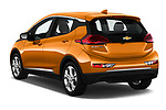 Car pictures of rear three quarter view of a 2018 Chevrolet Bolt EV LT 5 Door Hatchback angular rear