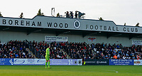 20191027 - Boreham Wood: Borham Wood Football Club stadium pictured during the Barclays FA Women's Super League match between Arsenal Women and Manchester City Women on October 27, 2019 at Boreham Wood FC, England. PHOTO:  SPORTPIX.BE | SEVIL OKTEM