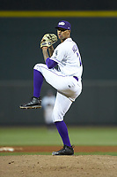 Winston-Salem Dash relief pitcher Blake Hickman (26) in action against the Salem Red Sox at BB&T Ballpark on April 20, 2018 in Winston-Salem, North Carolina.  The Red Sox defeated the Dash 10-3.  (Brian Westerholt/Four Seam Images)