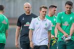 04.07.2019, Parkstadion, Zell am Ziller, AUT, TL Werder Bremen - Tag 00<br /> <br /> im Bild / picture shows 1. Training im TL Zillertal am Mittwoch abend<br /> <br /> Christian Vander (Torwart-Trainer SV Werder Bremen)<br /> Claas Bente (Physiotherapeut SV Werder Bremen)<br /> Jiri Pavlenka (Werder Bremen #01)<br /> Stefanos Kapino (Werder Bremen #27)<br /> <br /> Foto © nordphoto / Kokenge