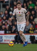 Manchester United's Victor Lindelof <br /> <br /> Photographer David Horton/CameraSport<br /> <br /> The Premier League - Bournemouth v Manchester United - Saturday 3rd November 2018 - Vitality Stadium - Bournemouth<br /> <br /> World Copyright &copy; 2018 CameraSport. All rights reserved. 43 Linden Ave. Countesthorpe. Leicester. England. LE8 5PG - Tel: +44 (0) 116 277 4147 - admin@camerasport.com - www.camerasport.com