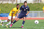 Torrance, CA 02/23/11 - Ike Akubuilo  (West #10) and Sean Dhillon (Tesoro #4) in action during the second round CIF playoffs between Tesoro and West.