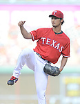 Yu Darvish (Rangers),<br /> JULY 9, 2014 - MLB :<br /> Pitcher Yu Darvish of the Texas Rangers during the Major League Baseball game against the Houston Astros at Globe Life Park in Arlington in Arlington, Texas, United States. (Photo by AFLO)