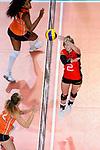 25.08.2018, …VB Arena, Bremen<br />Volleyball, LŠnderspiel / Laenderspiel, Deutschland vs. Niederlande<br /><br />Zuspielfinte / Trick Pia KŠstner / Kaestner (#2 GER)<br /><br />  Foto &copy; nordphoto / Kurth