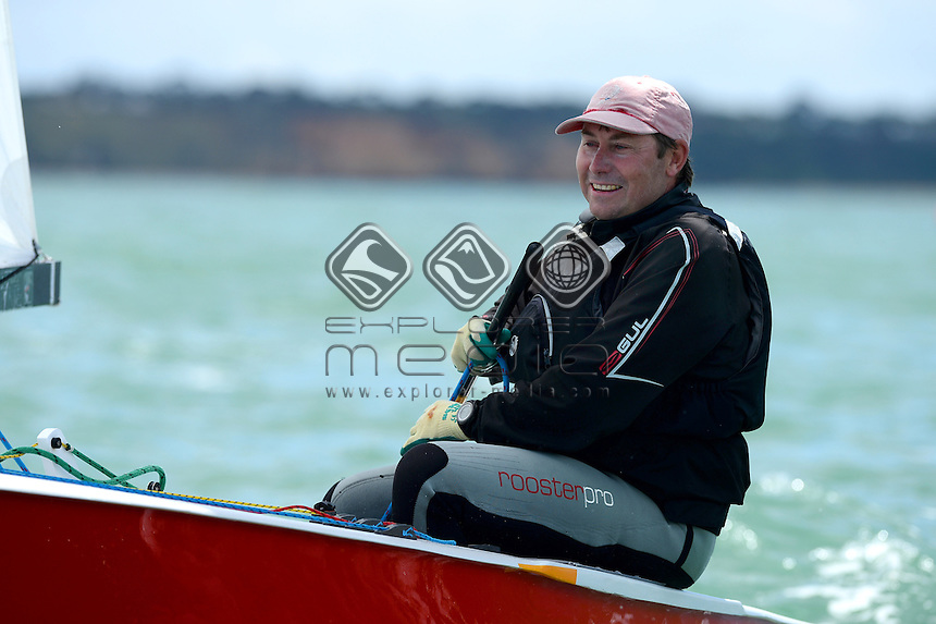 OK Dinghy / Mark Jackson (AUS)<br /> 2013 ISAF Sailing World Cup - Melbourne<br /> Sail Melbourne - The Asia Pacific Regatta<br /> Sandringham Yacht Club, Victoria<br /> December 1st - 8th 2013<br /> &copy; Sport the library / Jeff Crow