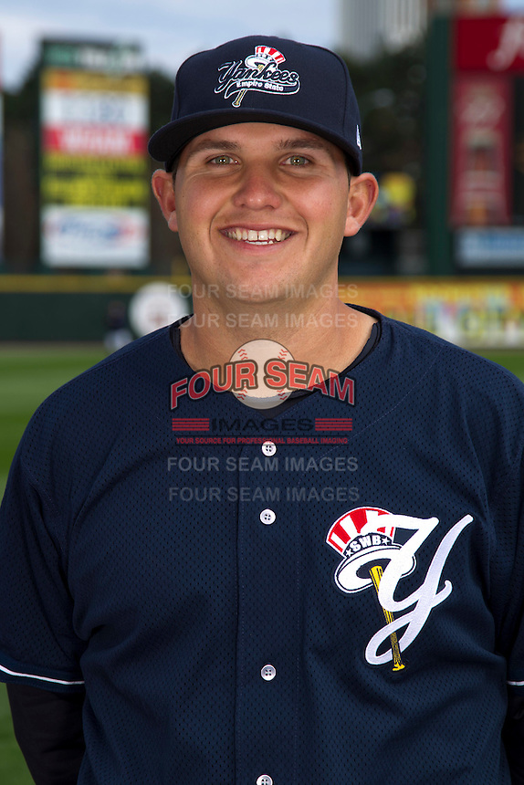 Scranton Wilkes-Barre Yankees infielder Brandon Laird poses for a photo during media day at Frontier Field on April 3, 2012 in Rochester, New York.  (Mike Janes/Four Seam Images)
