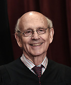 Associate Justice Stephen Breyer poses for a group photograph at the Supreme Court building on June 1 2017 in Washington, DC.  <br /> Credit: Olivier Douliery / Pool via CNP