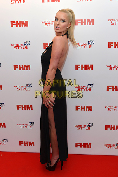 Helen Flanagan.FHM 100 Sexiest Women in the World party, The Sanderson Hotel, London, England 1st May 2013.full length black dress side slit split.CAP/PL.©Phil Loftus/Capital Pictures