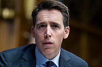 """United States Senator Josh Hawley (Republican of Missouri) speaks during the US Senate Judiciary Committee hearing titled """"Examining Best Practices for Incarceration and Detention During COVID-19,"""" in Dirksen Building in Washington, D.C. on Tuesday, June 2, 2020.<br /> Credit: Tom Williams / Pool via CNP/AdMedia"""