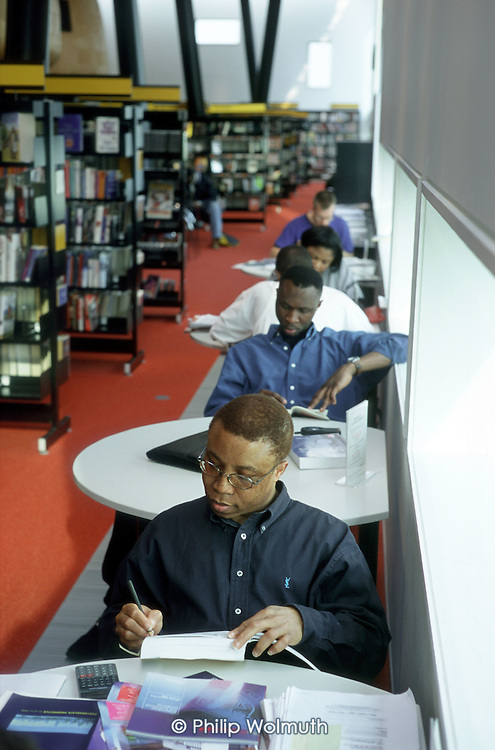 Studying in the newly opened Peckham Library.