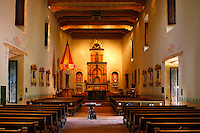Inside the church at Mission Basilica San Diego de Alcala, San Diego, California