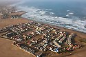 Namibia, Namib Desert, Skeleton Coast, aerial view of new northern suburbs of Swakopmund