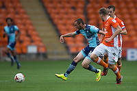 Michael Harriman of Wycombe Wanderers during the Sky Bet League 2 match between Blackpool and Wycombe Wanderers at Bloomfield Road, Blackpool, England on 20 August 2016. Photo by James Williamson / PRiME Media Images.