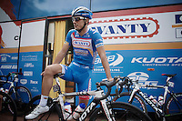 Bjorn Leukemans (BEL/Wanty-Groupe Gobert) pre-race<br /> <br /> stage 3<br /> Euro Metropole Tour 2014 (former Franco-Belge)