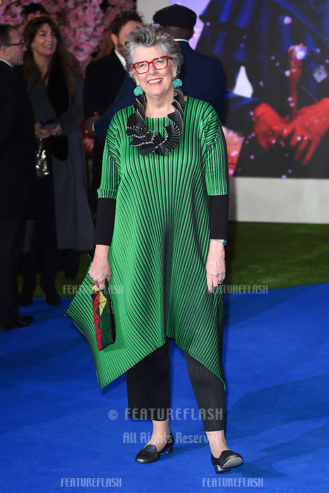 LONDON, UK. December 12, 2018: Prue Leith at the UK premiere of &quot;Mary Poppins Returns&quot; at the Royal Albert Hall, London.<br /> Picture: Steve Vas/Featureflash