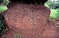 Boulder covered in pre-Colimbian petroglyphs, Isla de Ometepe, Nicaragua