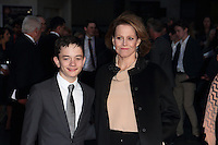 Sigourney Weaver and Lewis MacDougall at the BFI London Film Festival Mayfair Hotel Gala A Monster Calls at the Odeon Leicester Square. London on October 6th 2016<br /> CAP/ROS<br /> &copy;Steve Ross/Capital Pictures /MediaPunch ***NORTH AND SOUTH AMERICAS ONLY***