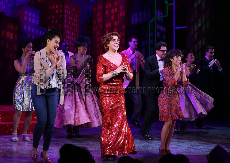 """Lilli Cooper, Santino Fontana and Sarah Stiles during the Broadway Opening Night of """"Tootsie"""" at The Marquis Theatre on April 22, 2019  in New York City."""