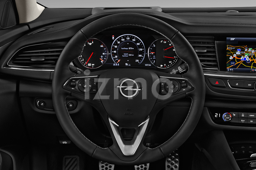 Car pictures of steering wheel view of a 2017 Opel Insignia Grand Sport Dynamic 5 Door Hatchback